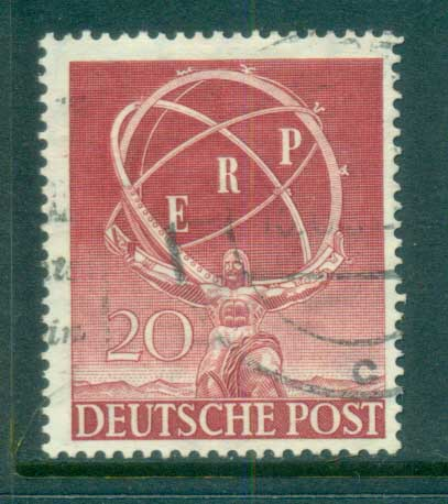 Germany Berlin 1950 European Recovery Plan FU lot70407