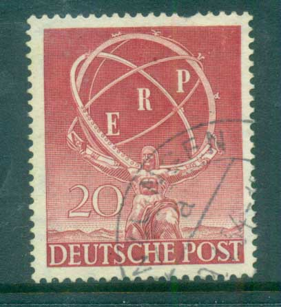 Germany Berlin 1950 European Recovery Plan FU lot70408