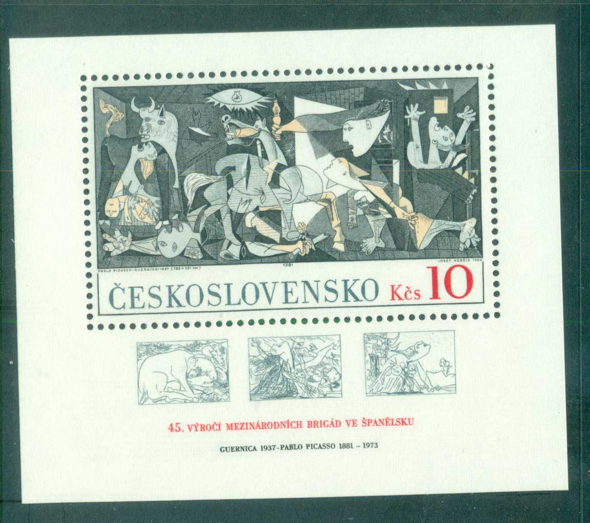Czechoslovakia 1981 Guernica by Pablo Picasso MS MUH lot70547
