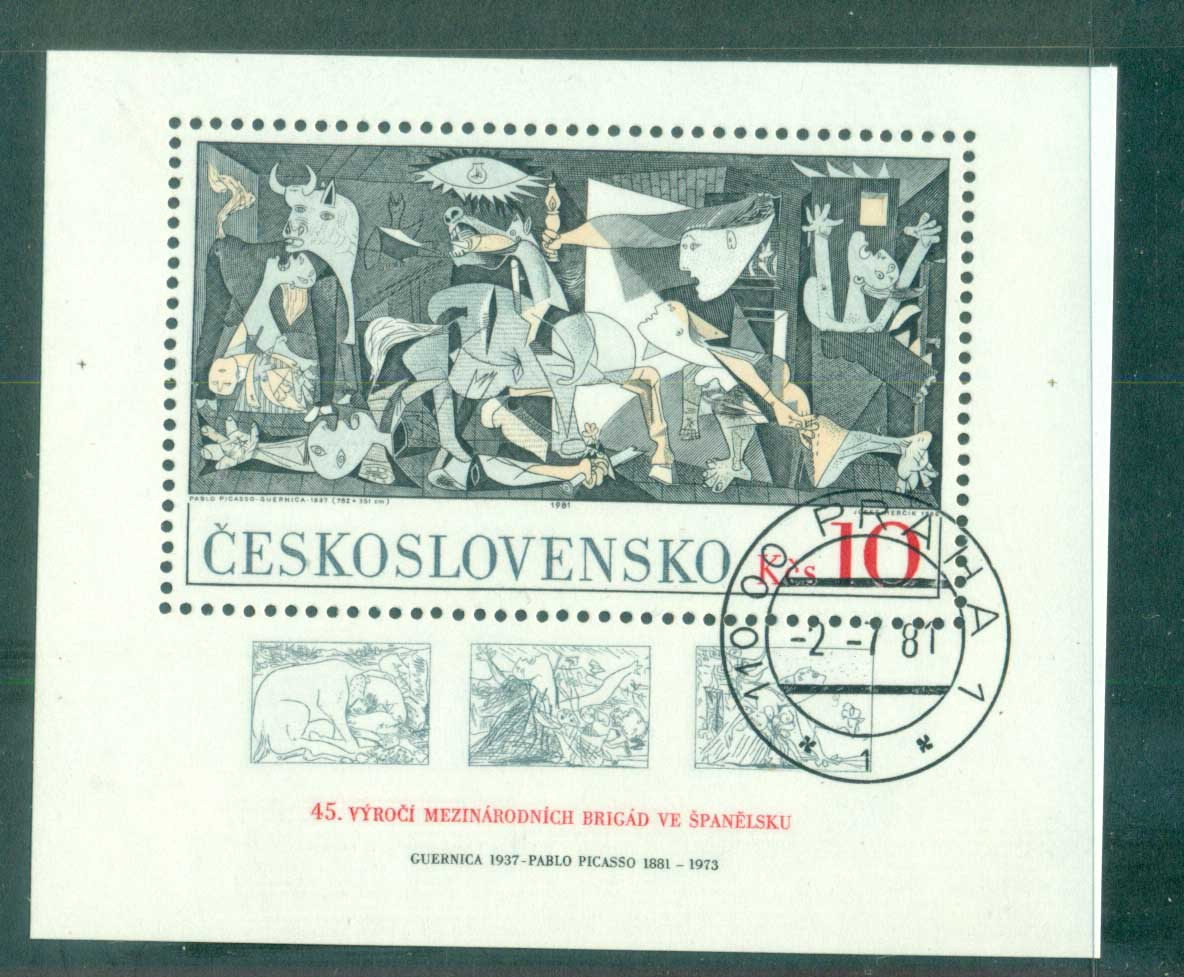 Czechoslovakia 1981 Guernica by Picasso MS CTO lot70631