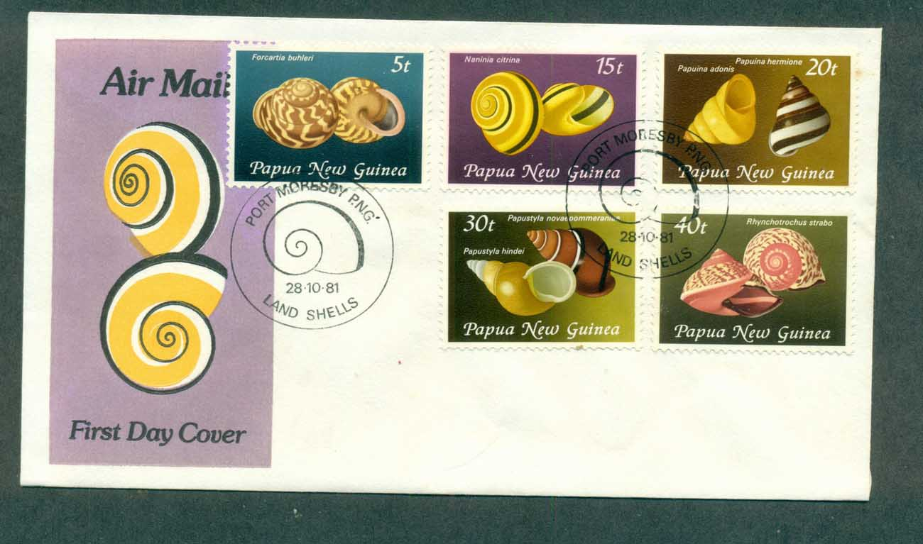 PNG 1981 Land Shells FDC lot70677