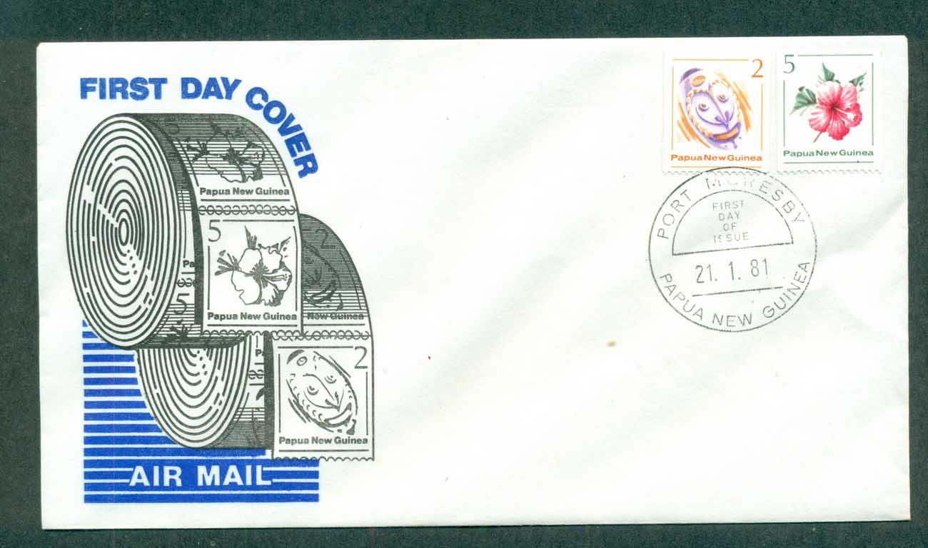 PNG 1981 Coils FDC lot70723
