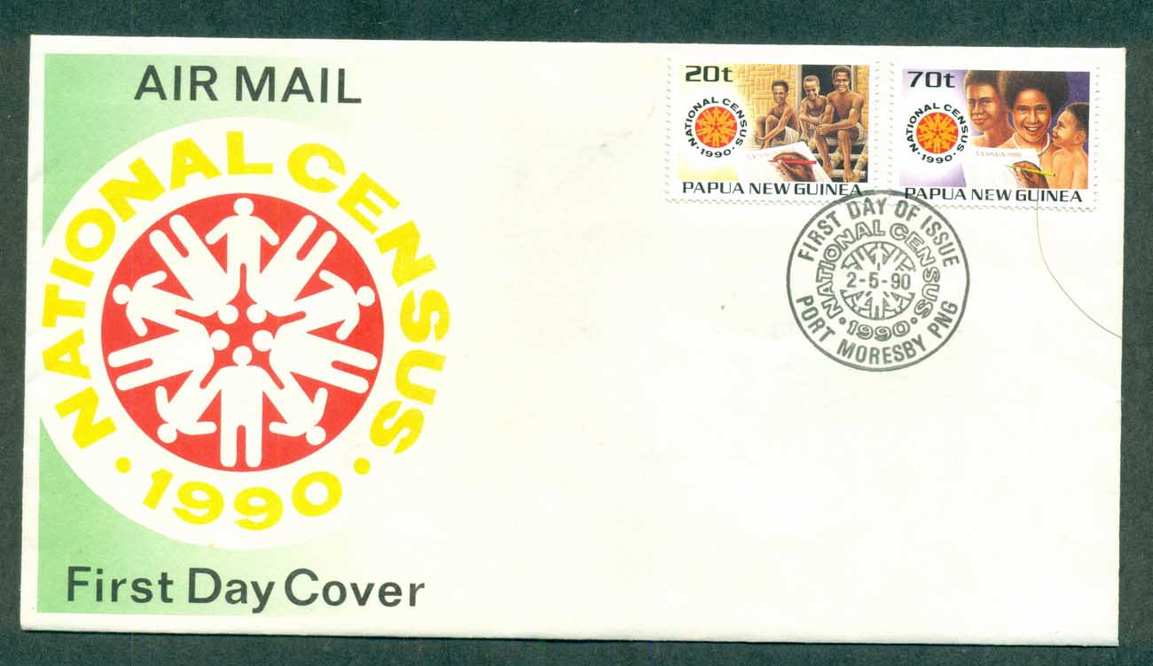 PNG 1990 Census FDC lot70763
