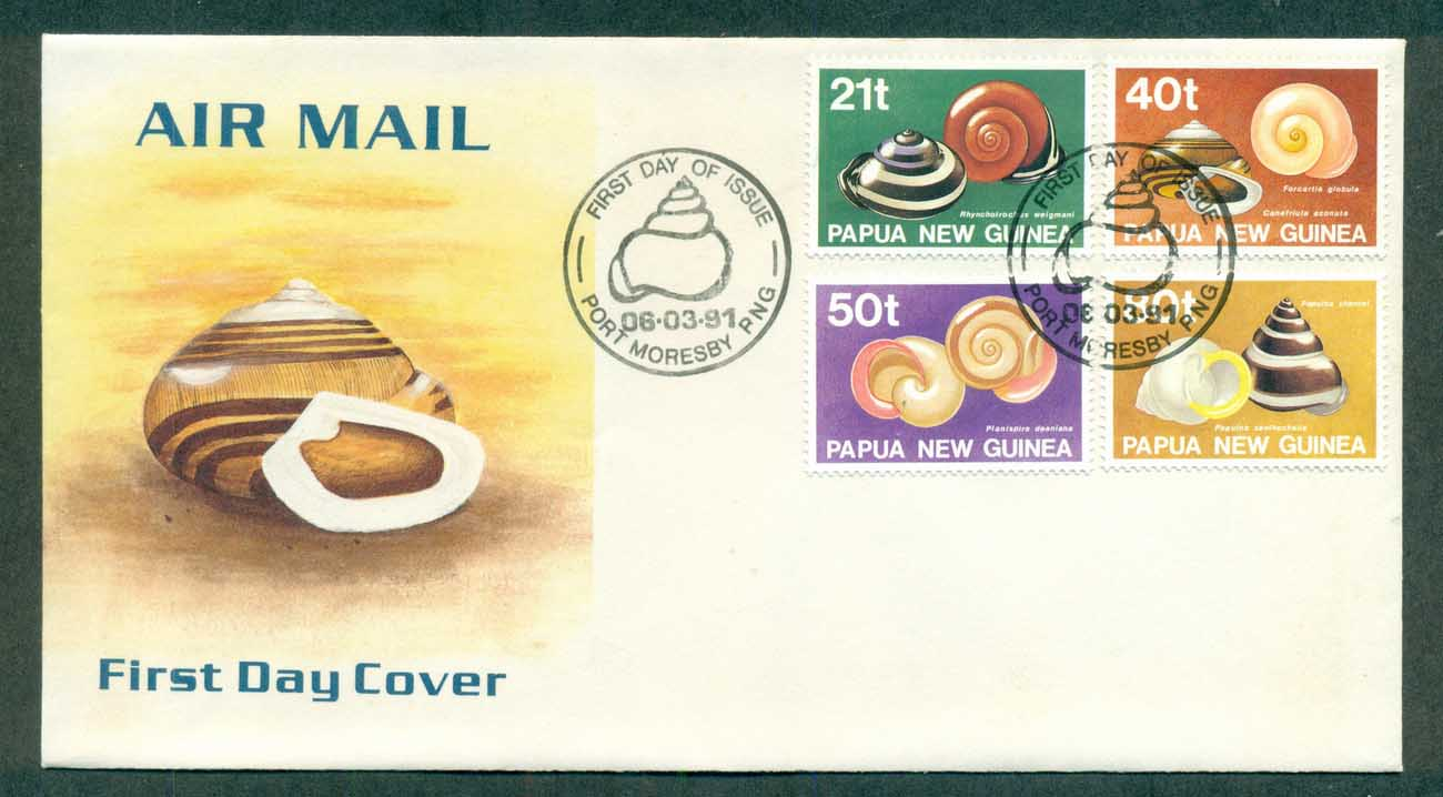 PNG 1991 Land Shells FDC lot70768