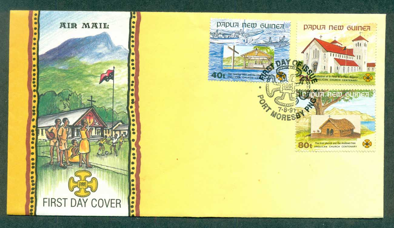 PNG 1991 Churches FDC lot70769
