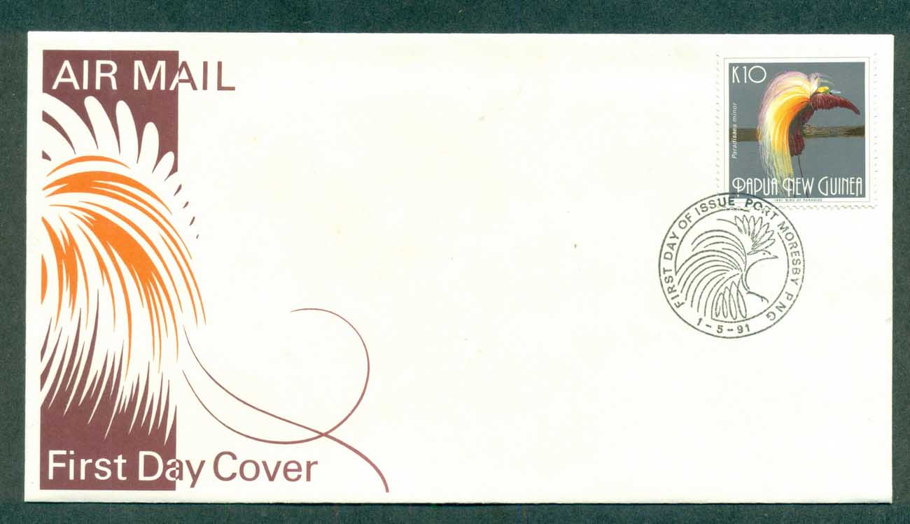 PNG 1991 10k Bird of Paradise FDC lot70772