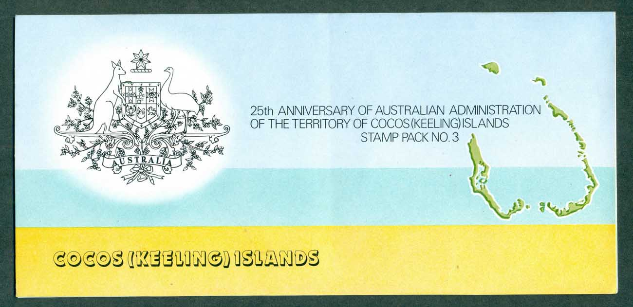 Cocos Keeling Is 1980 Australian Administration Stamp Pack #3 POP lot(xl)70789