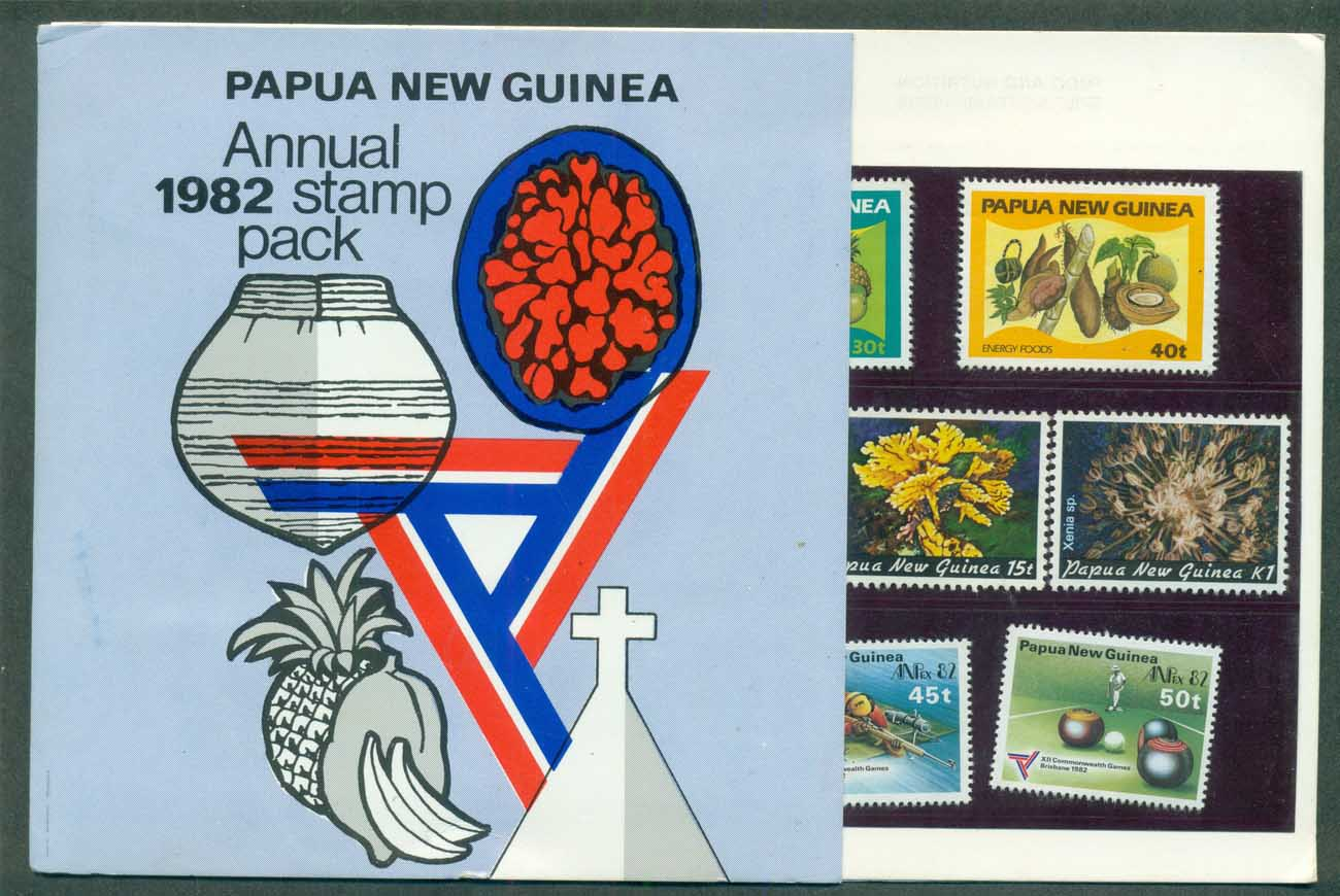 PNG 1982 Annual Stamp Pack POP lot(xl)70799