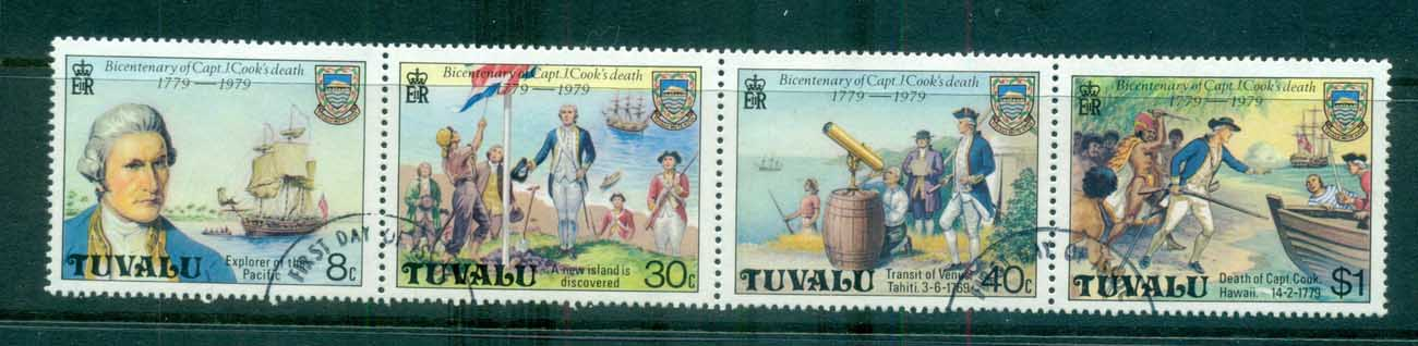 Tuvalu 1979 Captain Cook Str 4 FU lot70887