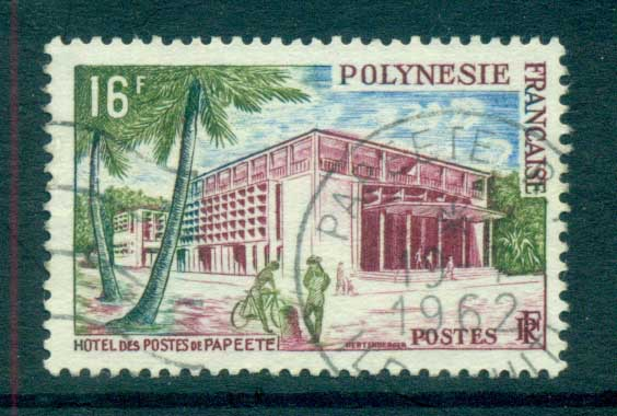 French Polynesia 1960 Post Office Papeete FU lot70897