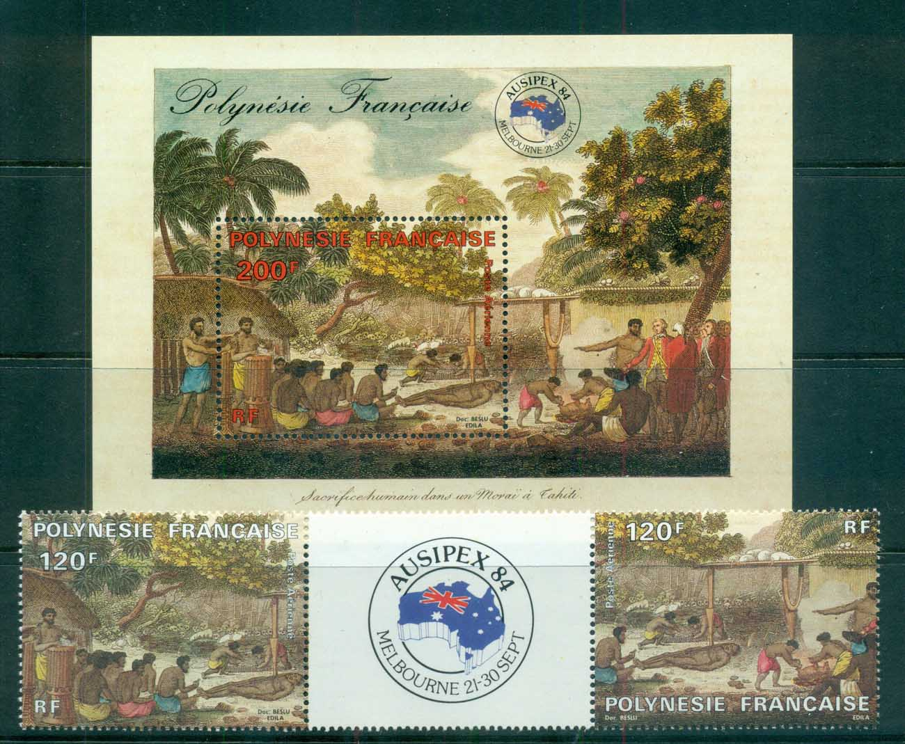 French Polynesia 1984 AUSIPEX + MS lot70905