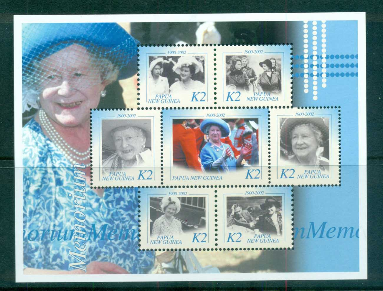 PNG 2002 Queen Mother in Memoriam 2k MS MUH lot71027