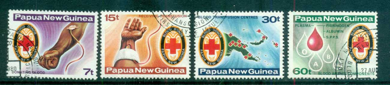 PNG 1980 Red Cross, Blood transfusion CTO lot71114
