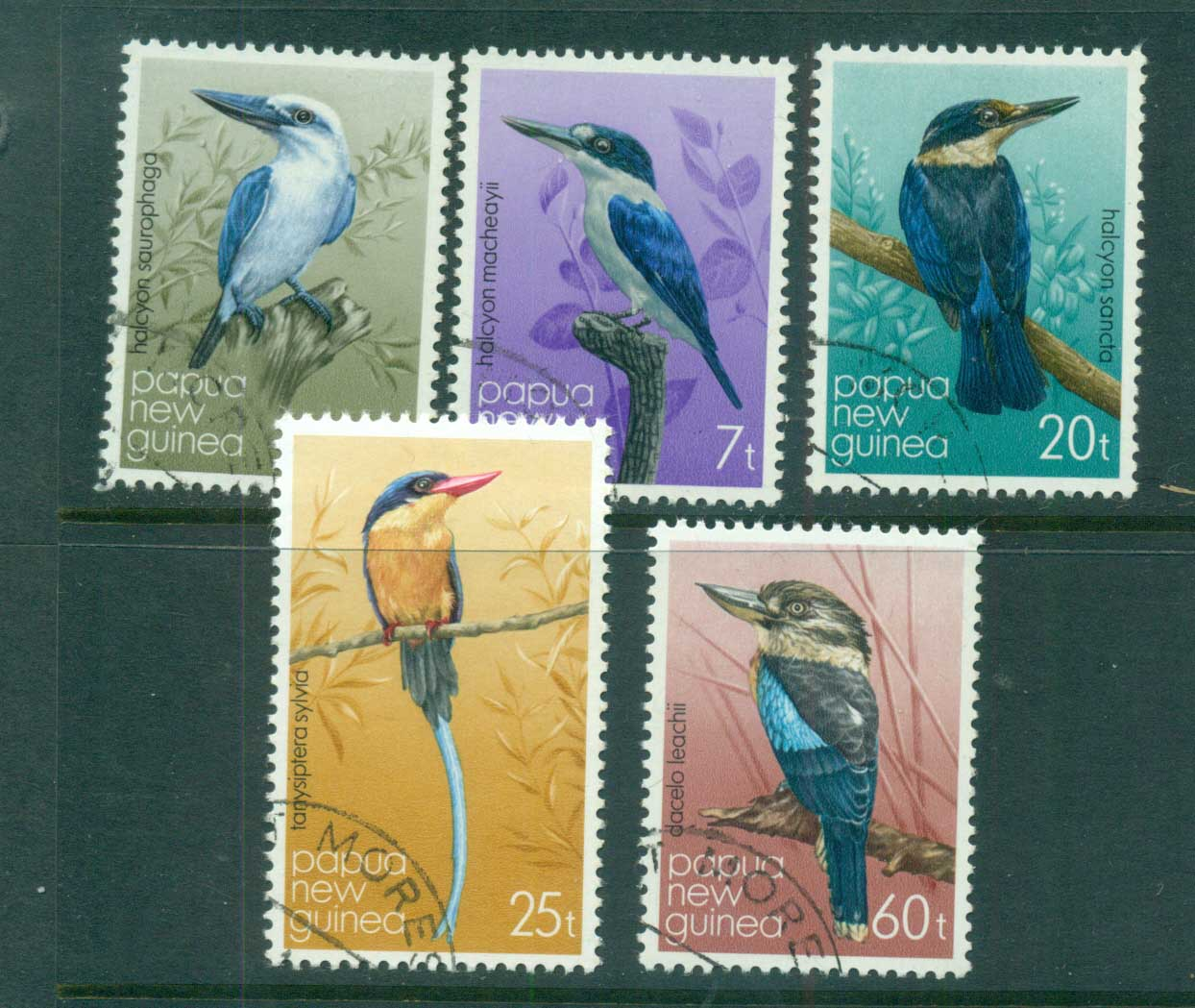 PNG 1981 Birds, Kingfishers CTO lot71117