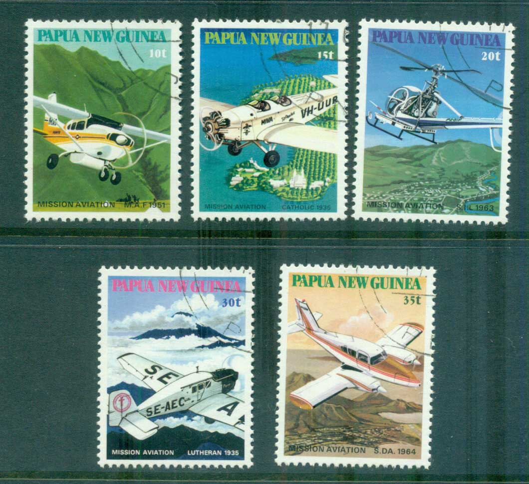 PNG 1981 Missionary Aviation CTO lot71119
