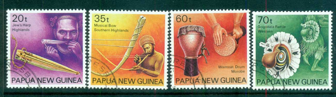 PNG 1990 Musical Instruments CTO lot71140