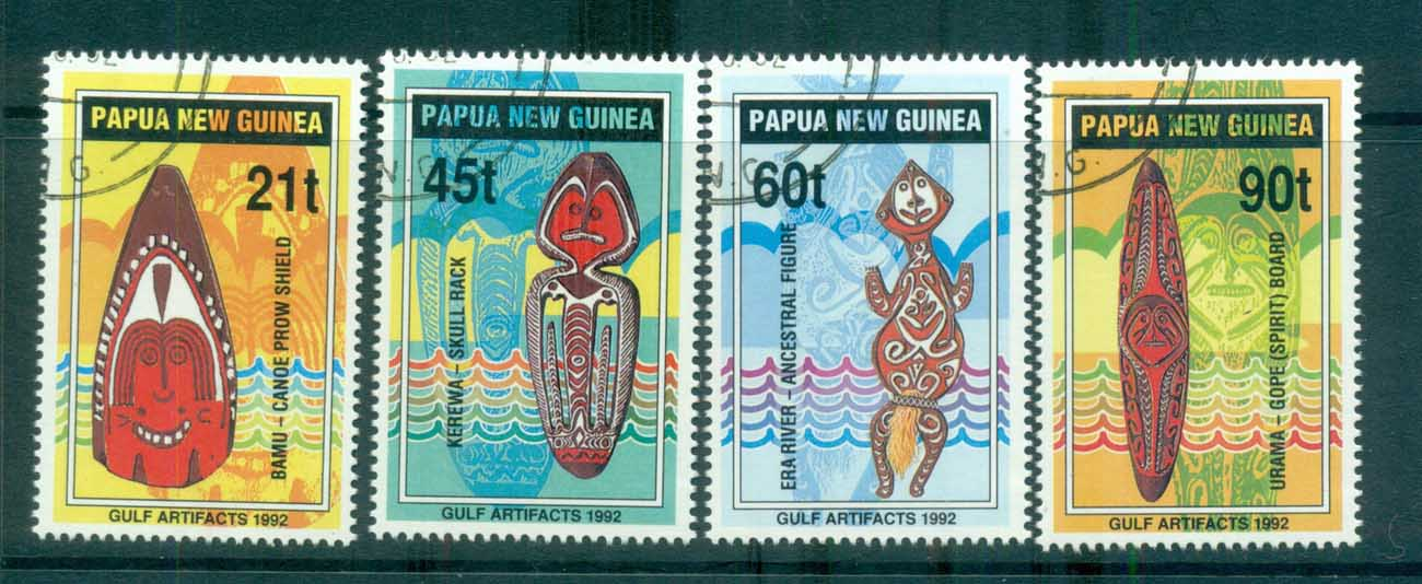 PNG 1992 Papuan Gulf Artifacts CTO lot71177