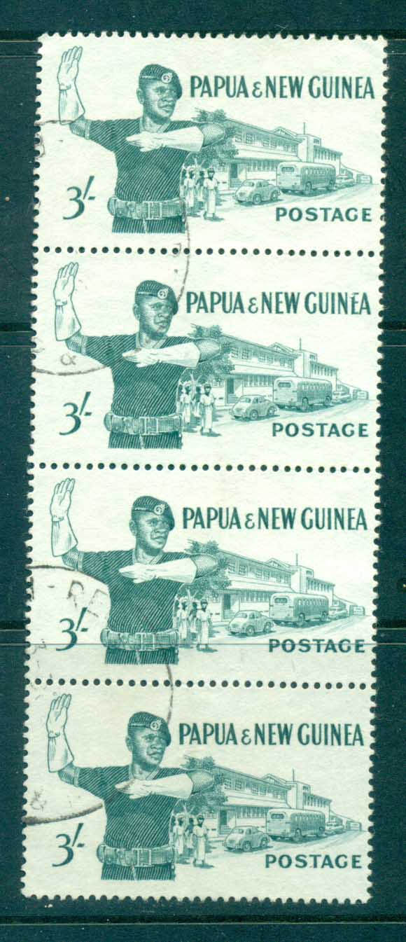 PNG 1961 3/- Policeman Str 4 FU lot71247