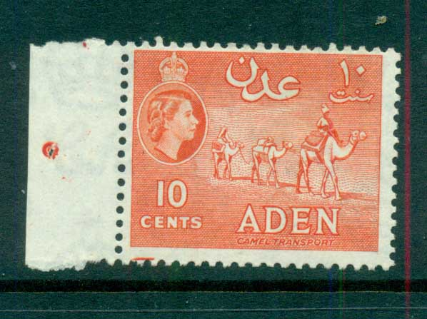Aden 1953-59 Camel Transport 10c vermillion Perf 12x13.5 MUH lot71315