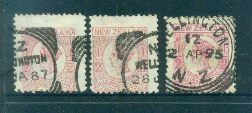New Zealand 1875-92 Newspaper Stamps FU lot71524