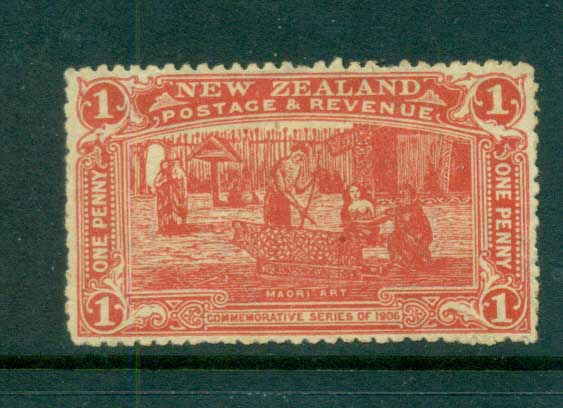 New Zealand 1906 1c vermillion Christchurch Exhibition MNG lot71528