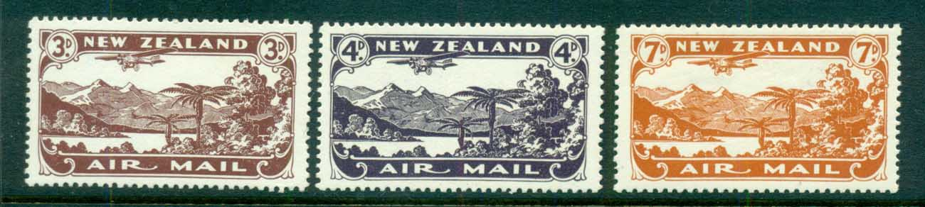 New Zealand 1931 Air mail Plane over Lake Manapouri MLH lot71534