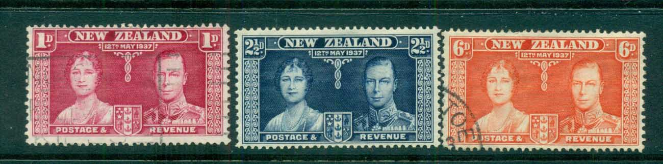 New Zealand 1937 Coronation FU lot71543
