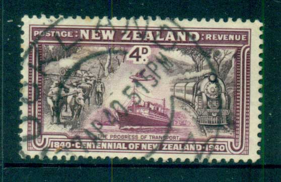 New Zealand 1940 4d Progress of Transport FU lot71551