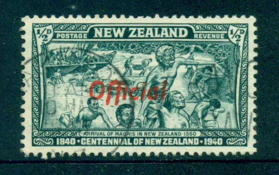 New Zealand 1940 1/2d OFFICIAL Joined FF variety FU lot71553
