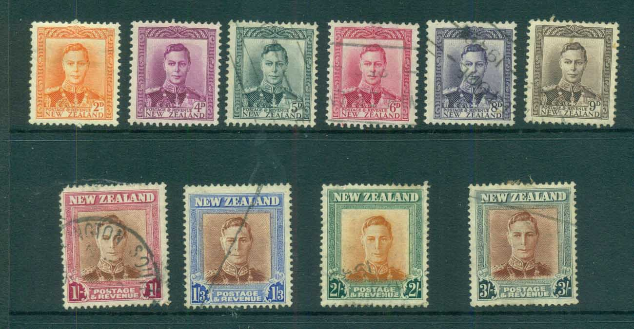 New Zealand 1947 KGVI Defins MLH/FU lot71558