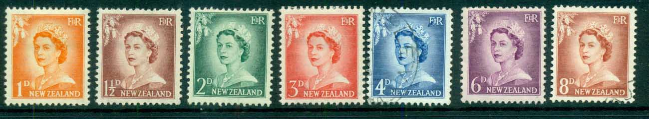 New Zealand 1954 QEII Redrawn (4d FU)FU/MLH lot71580