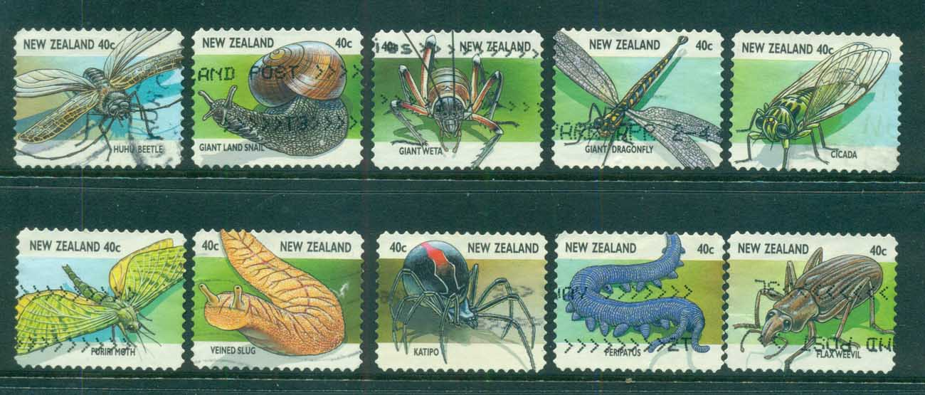 New Zealand 1997 Creepy Crawlies FU lot71607