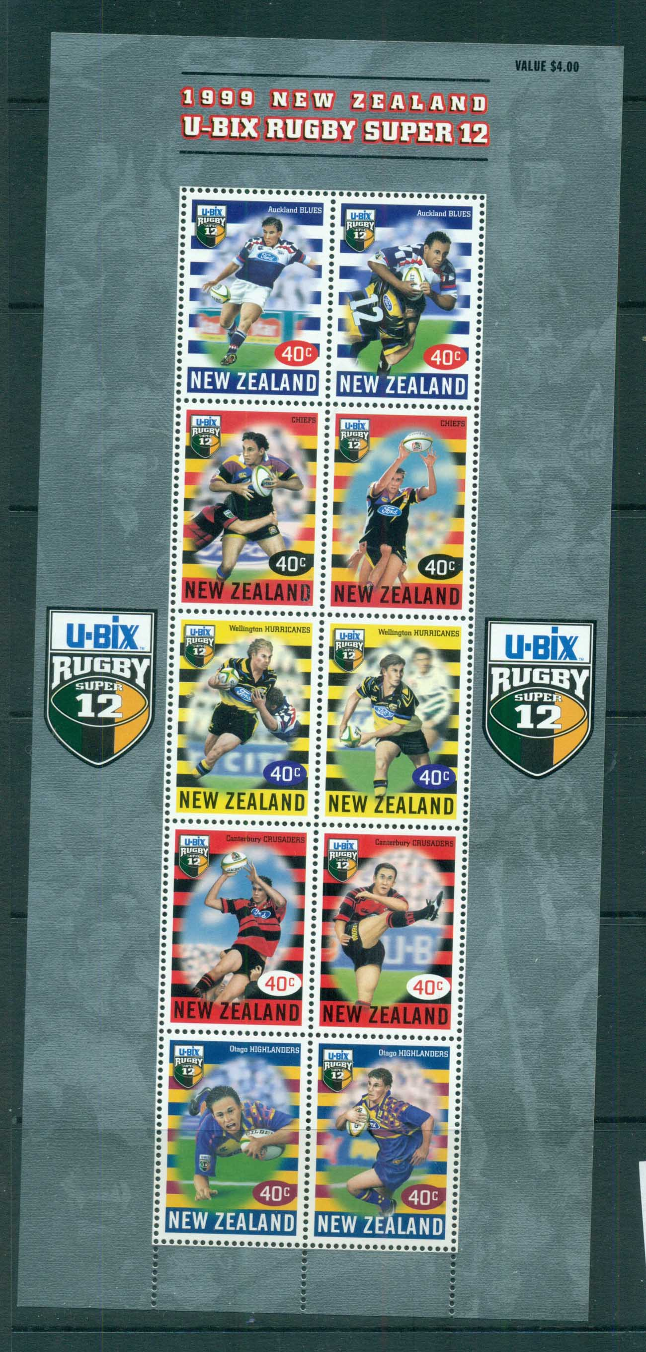 New Zealand 1999 Rugby Super 12 MS MUH lot71615