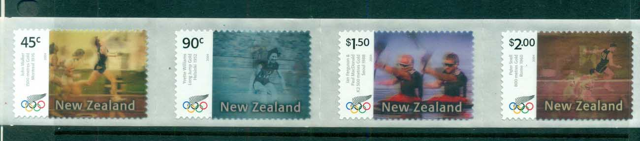 New Zealand 2004 Summer Olympics P&S Str 4 MUH lot71666