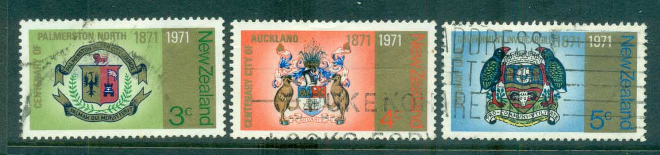 New Zealand 1971 Centenary of NZ Cities FU lot71711 - Click Image to Close