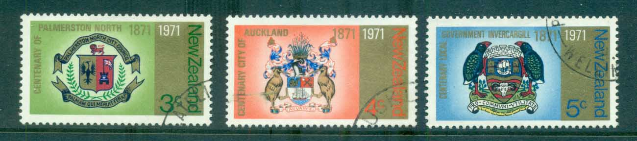 New Zealand 1971 Centenary of NZ Cities FU lot71712