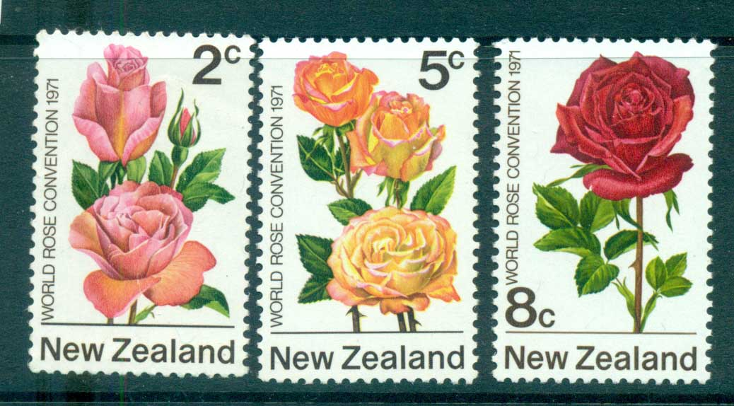 New Zealand 1971 Roses MLH lot71720