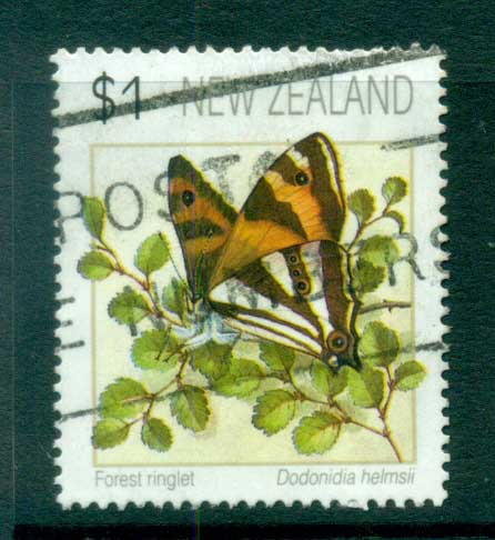 New Zealand 1991-95 Butterflies $1, (not perf checked) FU lot71917