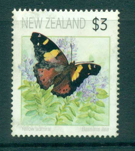 New Zealand 1991-95 Butterflies $3, (not perf checked) FU lot71919