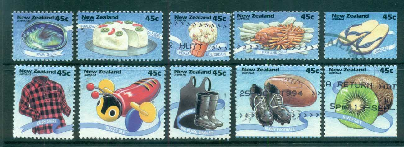 New Zealand 1994 Kiwi Icons ex booklet FU lot71943
