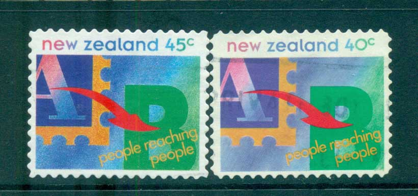 New Zealand 1994 People Reaching people FU lot71946
