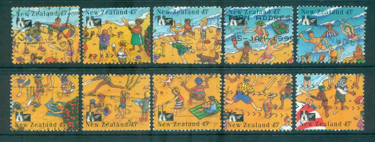 New Zealand 1994 Cricket Centenary, Beach Cricket P&S FU lot71949