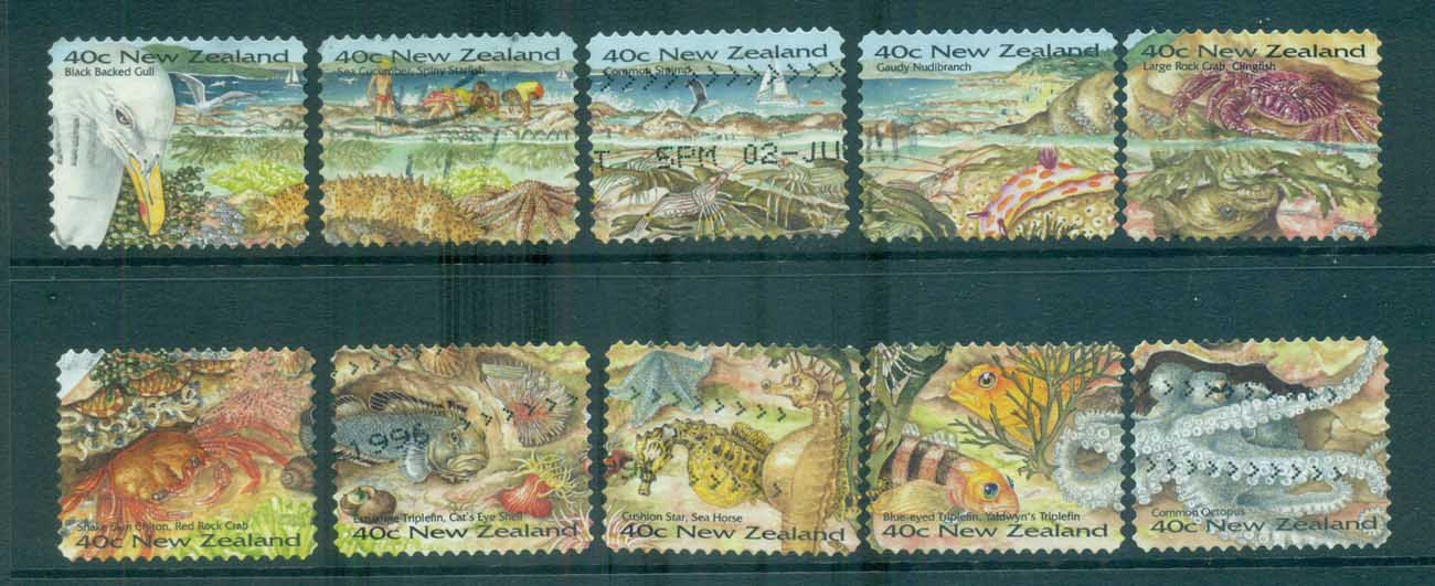 New Zealand 1996 Seashore ex booklet P&S FU lot71967