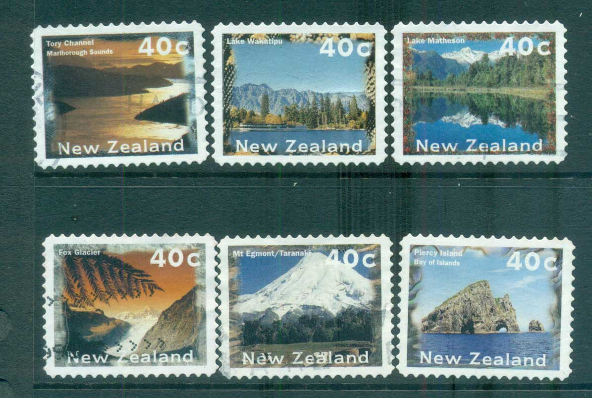 New Zealand 1996 Views, Scenes die cut 11.25 P&S FU lot71970