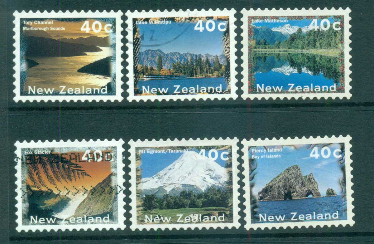 New Zealand 1996 Views, Scenes die cut 10x9.75 P&S FU lot71971
