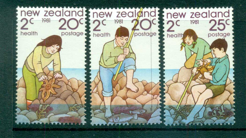 New Zealand 1981 Health,Rock Pool MLH lot71977
