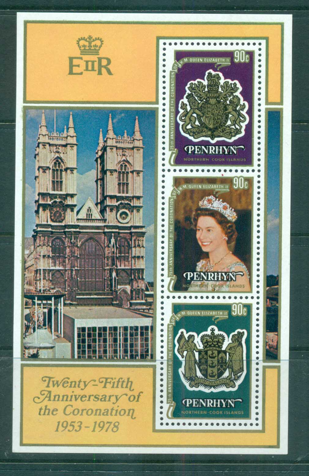 Penrhyn Is 1978 QEII Coronation Anniv MS MUH lot71992