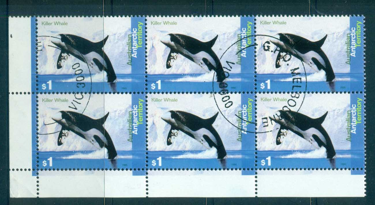 AAT 1995 Killer Whale $1 Blk 6 CTO lot72111
