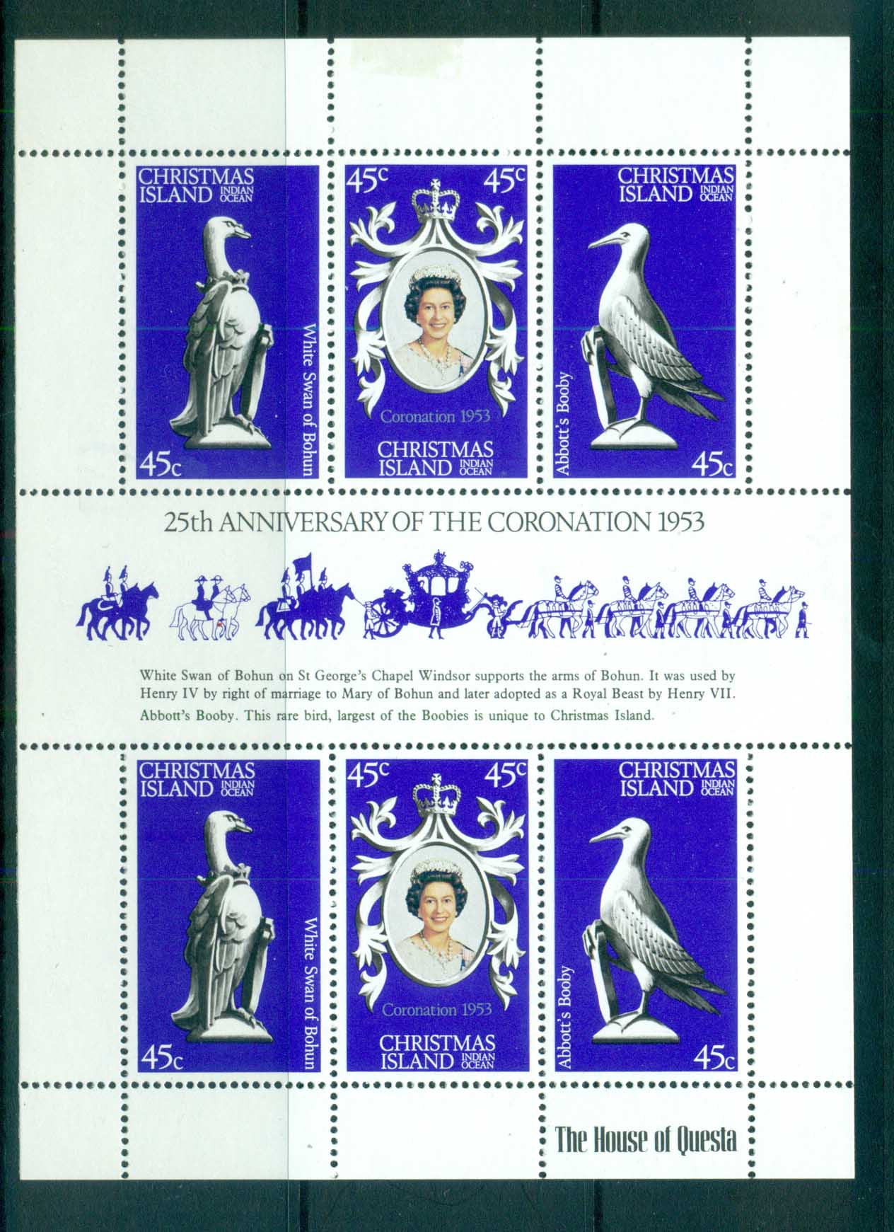 Christmas Is 1978 QEII Coronation Anniv MS MUH lot72148