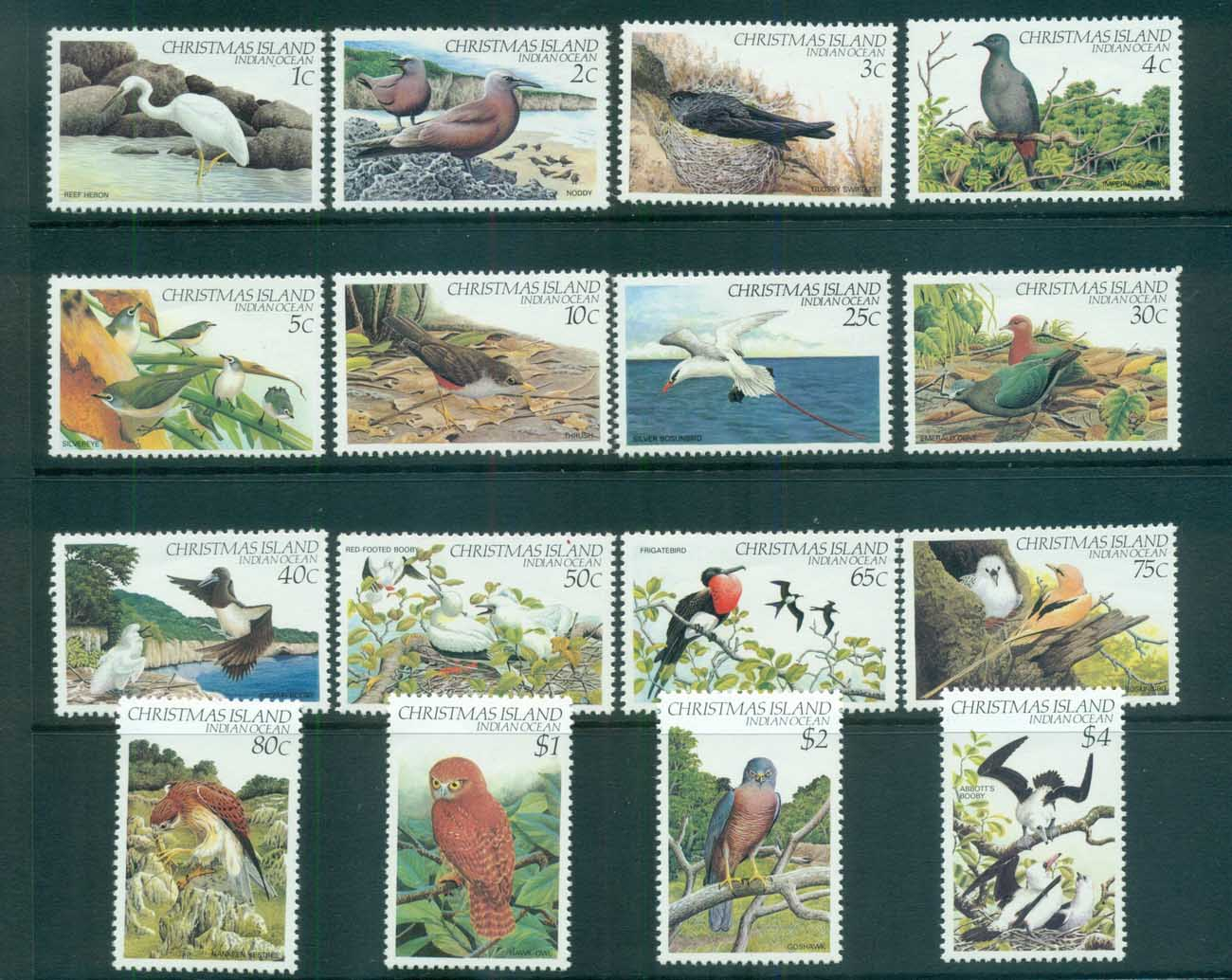 Christmas Is 1982-83 Bird Definitives MUH lot72159